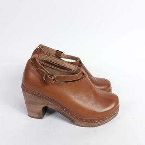 Anthropologie Cubanas Hanka Brown Clogs Size 7
